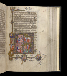 Historiated Initial To Psalm 109 With Scenes From The Life Of David, In The Egerton Bohun Psalter-Hours